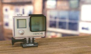 Image of a GoPro video camera on a desk