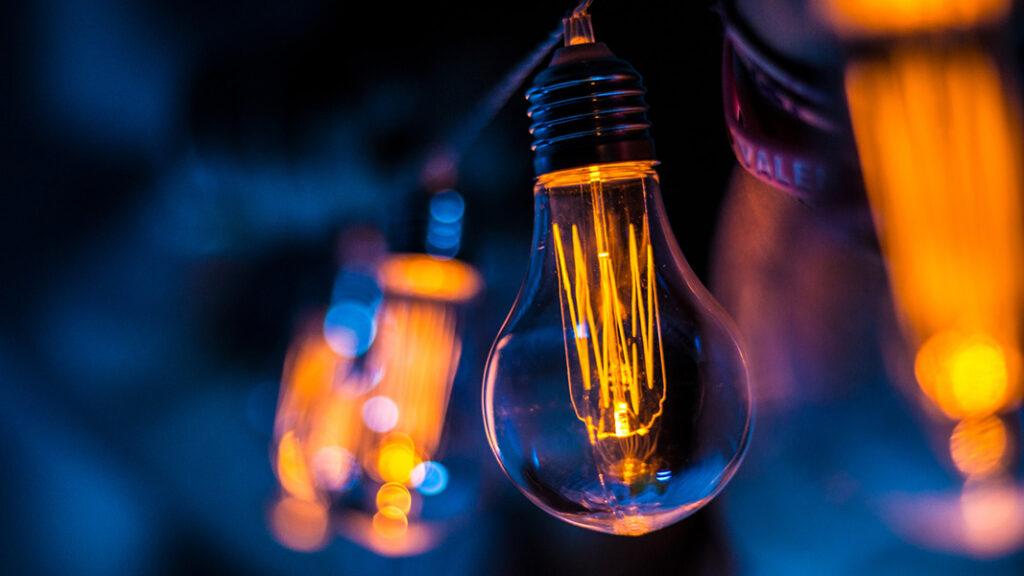 Image of glowing lightbulb